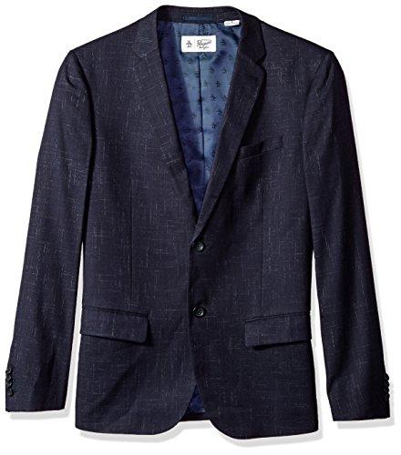 (Original Penguin Men's Crosshatch NEP Blazer, Dark Sapphire, Large)