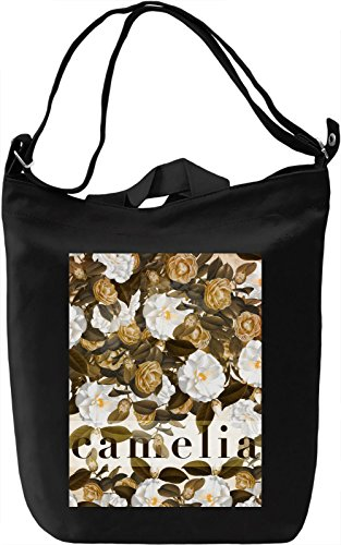 Camelia Borsa Giornaliera Canvas Canvas Day Bag| 100% Premium Cotton Canvas| DTG Printing|