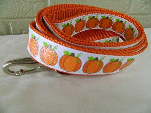 Schmoopsie Couture Orange Pumpkin Sparkle Dog Leash (1