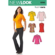 Simplicity Creative Patterns New Look 6150 Misses' Knit Top, A (4-6-8-10-12-14-16)