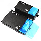 Tattoo Clip Cord Covers and Machine Bags - UNIQUE2U Disposable Tattoo Clip Cord Sleeves & Tattoo Machine Bags,Tattoo Kits, Tattoo Supplies (Black)