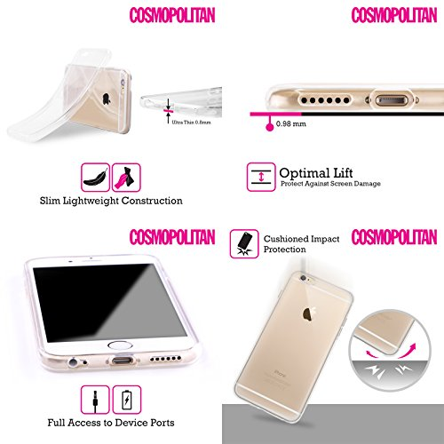 Official Cosmopolitan Game Kiss Mark Soft Gel Case for Apple iPhone 5c