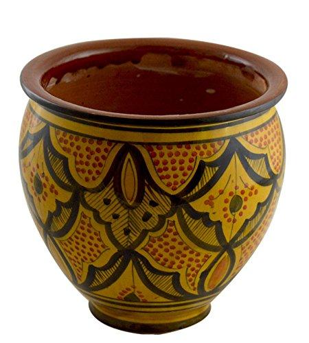 Ceramic Pots Mexican (Flower Pot Moroccan Spanish Garden Drain Hole Ceramic Planter Handmade Multicolored)
