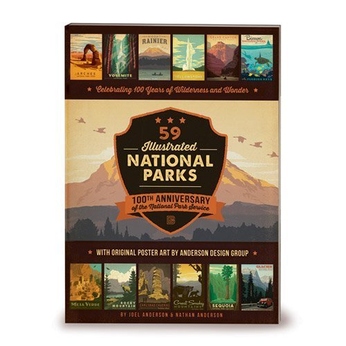 59 Illustrated National Parks - Softcover: 100th Anniversary of the National Park Service (Illustrated Christmas Tree)