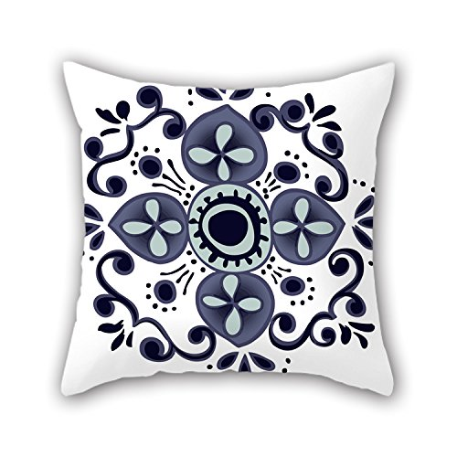 NICEPLW Bohemian Pillow Covers 16 X 16 Inches / 40 By 40 Cm For Gril Friend,car Seat,boy Friend,her,car,family With Each Side (Turquoise Gum Gems compare prices)