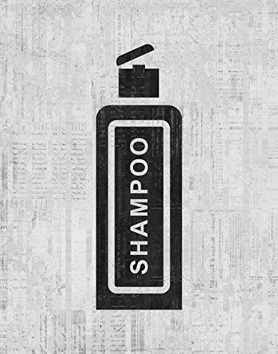 Amazon.com: Vintage Bathroom Artwork Bottle of Shampoo Print ...