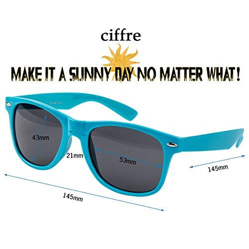 Ciffre Turquoise UV®400 400 Nerd Vintage Norme de Soleil Retro UV STYLE Lunette Lunettes 64q7Arwx6
