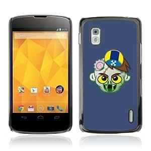 YOYOSHOP [Funny Zombie Illustration] LG Google Nexus 4 Case