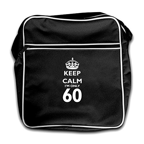 60 Black Retro Calm Keep I'm Red Dressdown Only Flight Bag BAIgqwvx