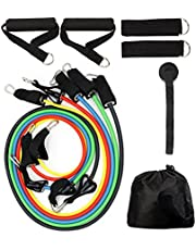 Vellio Shine Resistance Band Set with Door Anchor, Ankle Strap, Resistance Band Carrying Case