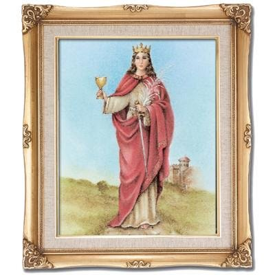 St. Barbara Framed Art by Discount Catholic Store