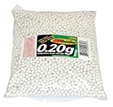 : TSD Competition Grade 6mm plastic airsoft BBs, 0.20g, 5000 rds, white