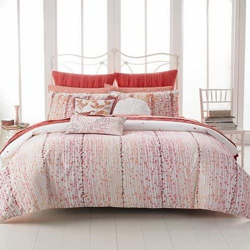 Style co. Home Scarlett Reversible Floral Ruffle Set of 2 EURO Pillow Shams