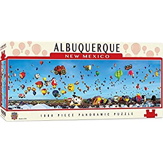 MasterPieces Cityscapes Panoramic Jigsaw Puzzle, Albuquerque Balloons, New Mexico, Photographs by James Blakeway, 1000 Pieces