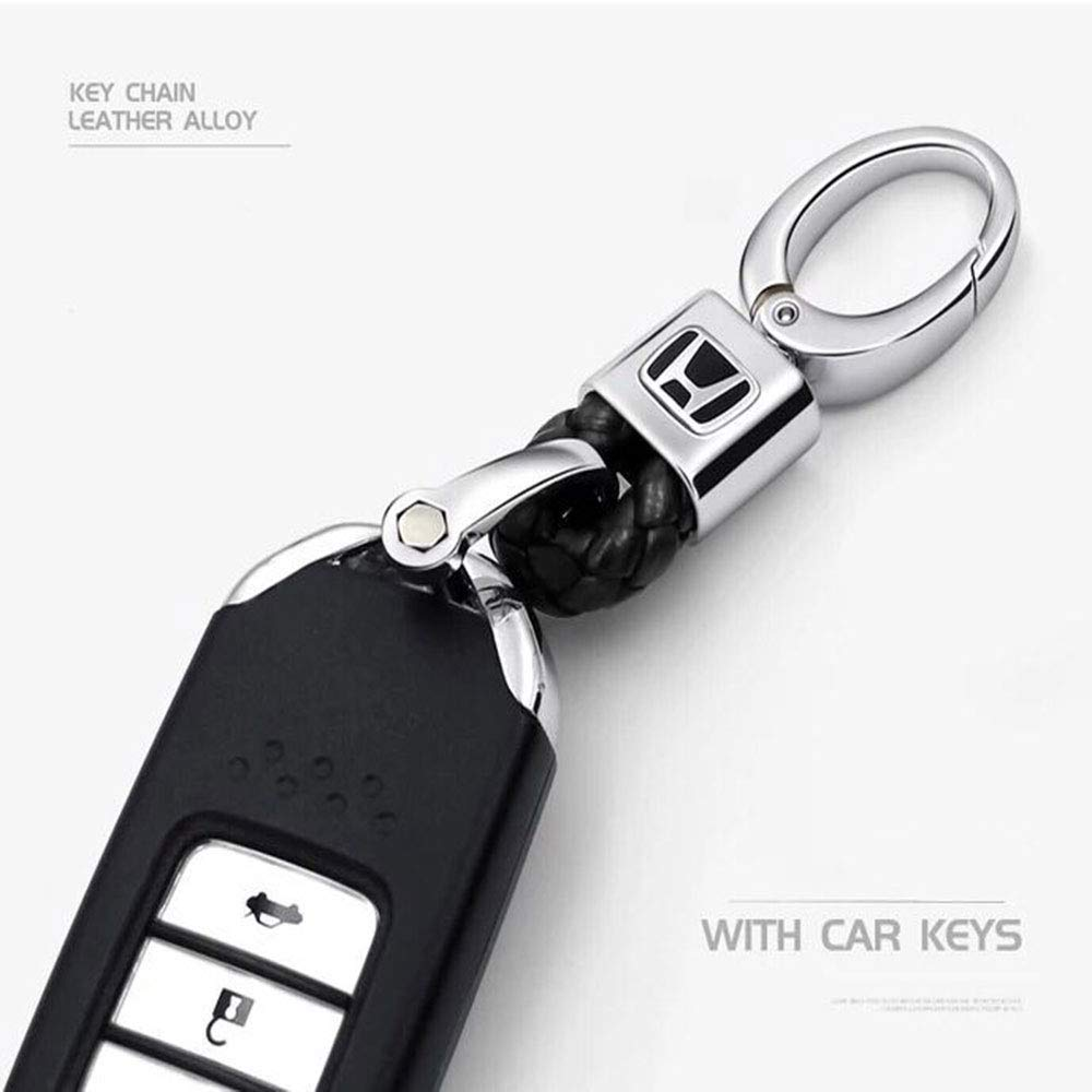 91b4854d532 Amazon.com  Fitracker New Auto Car Weave Strap Rope Keyring Keychain Key  Holder Leather for Mercedes Benz VW BMW Audi Toyota Ford Honda  Automotive