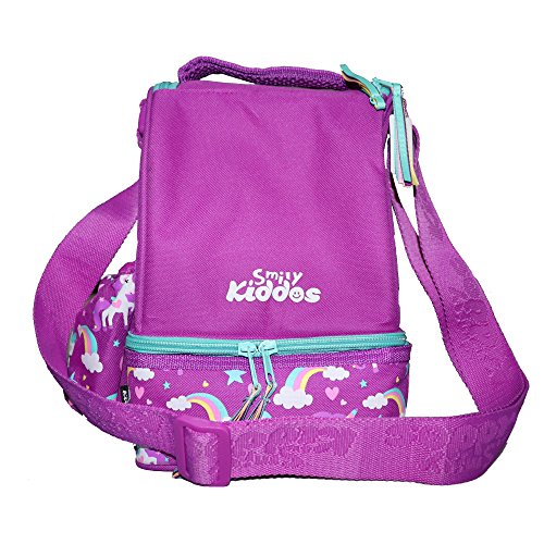 SMILY KIDDOS Polyester Lunch Bag with Strap (Purple)