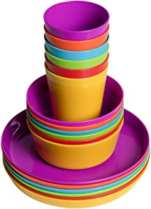 Klickpick Home Kids colorful dinnerware set- 6 colors (18 PCS SET)