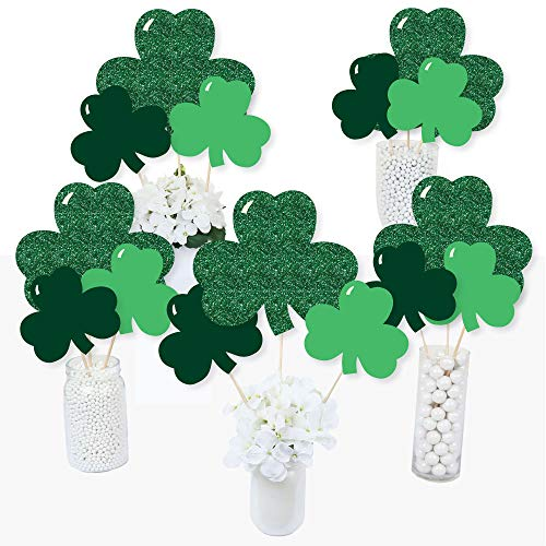 Shamrock Table Decorations (St. Patrick's Day - Saint Patty's Day Party Centerpiece Sticks - Table Toppers - Set of)