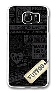 Samsung S6 Case,VUTTOO Stylish Scripture Soft Case For Samsung Galaxy S6 - PC Transparent