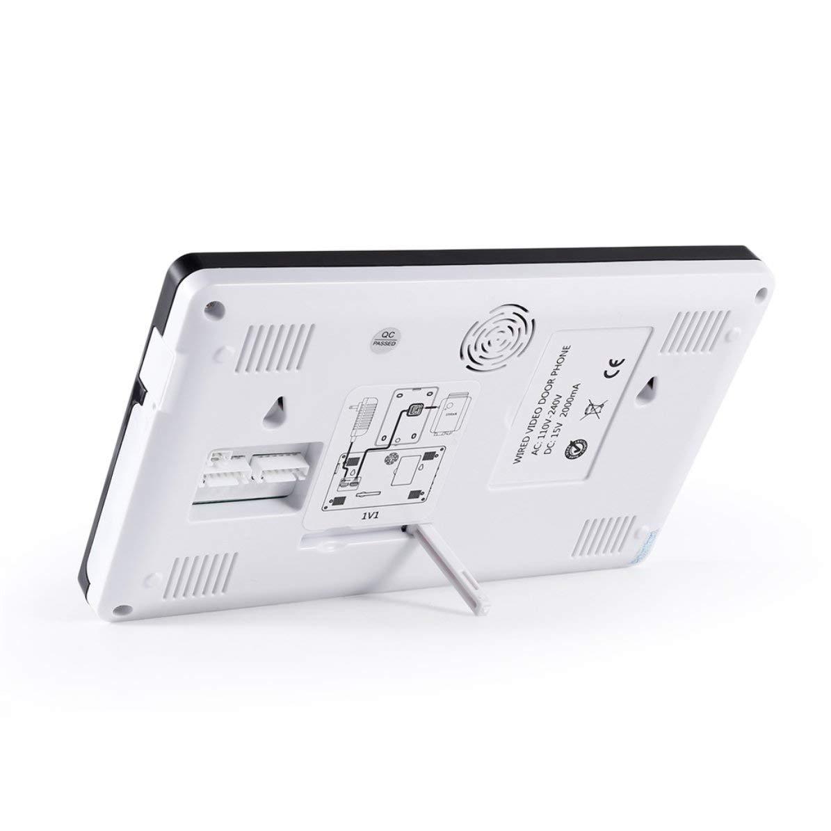 Sistema de intercomunicaci/ón con portero autom/ático de video Monitor interior en color de 7 pulgadas y c/ámara para exteriores