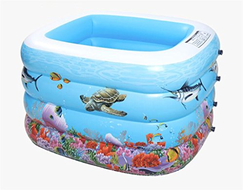 LQQGXL,Bath Child Inflatable Bathtub Inflatable Inflatable Pool Larger Pool Collapsible Ocean Pool Pool Swimming Pool Water Playground Inflatable bathtub ( Color : Foot pump ) by LQQGXL
