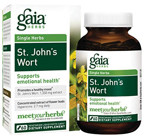 Gaia Herbs St. John's Wort, Vegan Liquid Capsules, 60 Count - Mood Support to Promote a Positive and Sunny Mood