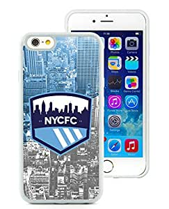 Fashionable And Antiskid Designed MLS New york city FC iPhone 6 4.7 TPU Case Cover 07 White