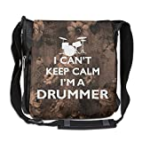Can't Keep Calm I'm A Drummer Crossbody Painting Casual Gym Travel Shoulder Bag 26 X 30 X 16 Cm