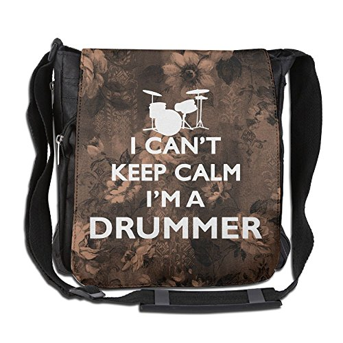 Can't Keep Calm I'm A Drummer Crossbody Painting Casual Gym Travel Shoulder Bag 26 X 30 X 16 Cm by HONG111