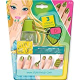 Style Me Up - Green Magnetic Nail Varnish for Kids - Manicure Set for Girls - Nail Art Stamping Kit for Kids - SMU-1658