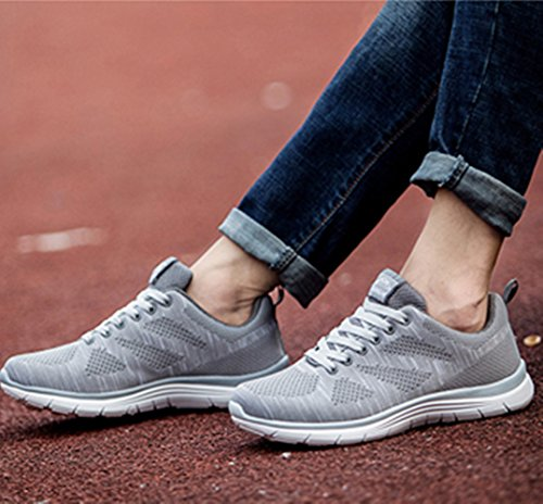 Fashion Sneakers 39 Baskets Sports up Running Breathable Red Lace Lightweight Men Grey Black 44 Weien Blue Grey Shoes ZvFxfzw0fq
