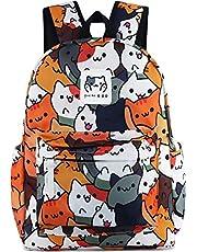 Roffatide Game Neko Atsume Anime Laptop Backpack Cute Cat School Bag Cartoon Printed Daypack