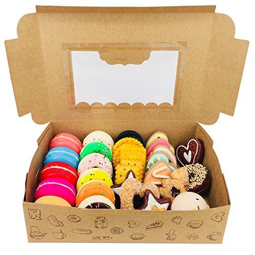 Chilly - Cajas para cupcakes con adhesivo y ventanilla transparente de plástico - 10 unidades: Amazon.es: Hogar