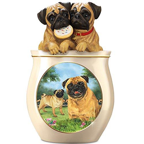 Pug Ceramic Cookie Jar<br>The Bradford Exchange<br>Art by Linda Picken <br>14 x 12.8 x 9.2 inches