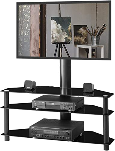 Glass Floor TV Stand