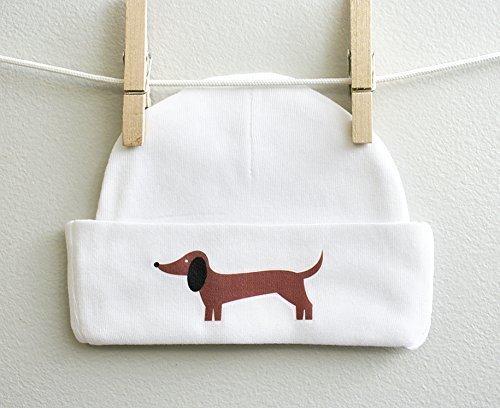 Dachshund Dog Boy Girl Baby Cap Beanie 100% Cotton