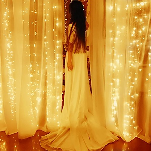 Blusow curtain lights led ft warm white