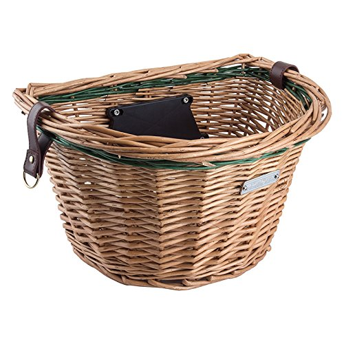 Sunlite Wicker QR Basket, Honey/Green