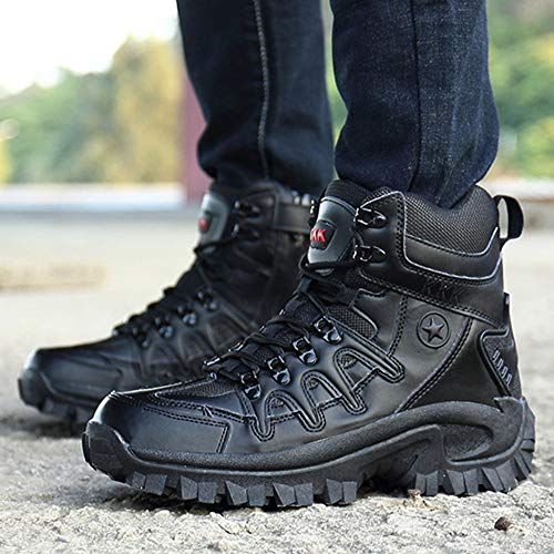 Scarpe Scarpe Uomo for Black Military Tops High Combat Tooling da da da Tactical Desert Boots Boots Martin Calzature da Arrampicata Outdoor Boots wE17y0