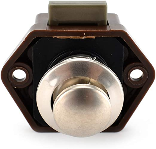 Mini-Push-Lock-Knopf RV-Verschluss Caravan Boot Motorschrank Push-Latch braun Push Lock -starnearby