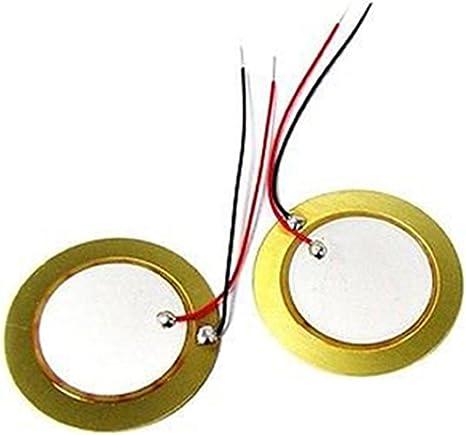 10x 20mm Piezo Elements Buzzer Sounder Sensor Trigger Drum Disc wire copper SL