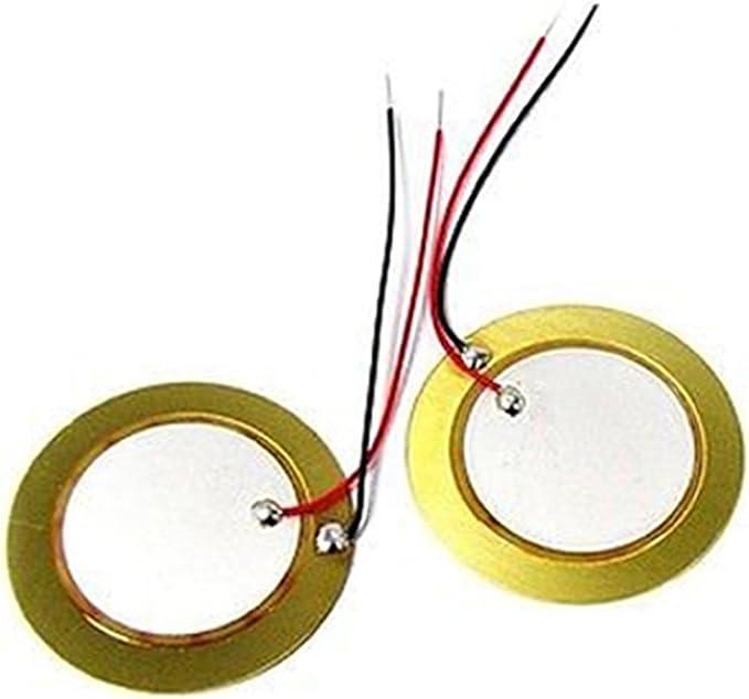 10Pcs 12-50mm piezo elements sounder sensor pad round trigger drum disc copperTB