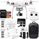 DJI Phantom 3 Standard w/ 2.7K Camera & 3-Axis Gimbal & Manufacturer Accessories + DJI Flight Battery + Water-Resistant Hardshell Backpack + 7PC Filter Kit (UV-CPL-ND2-400-Hood-Stabilizer) + MORE
