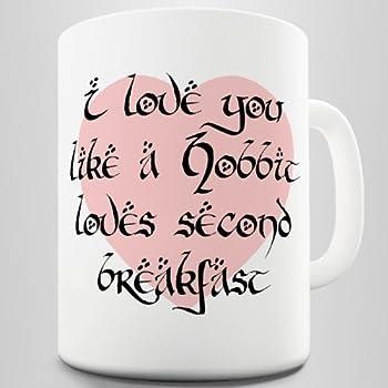 amazoncom hobbits breakfast coffee mug i love you like