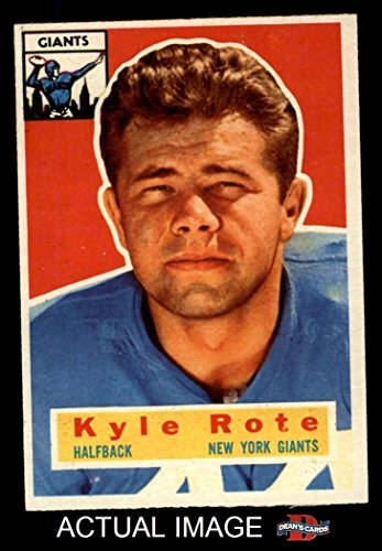 1956 Topps # 29 Kyle Rote New York Giants-FB (Football Ca...