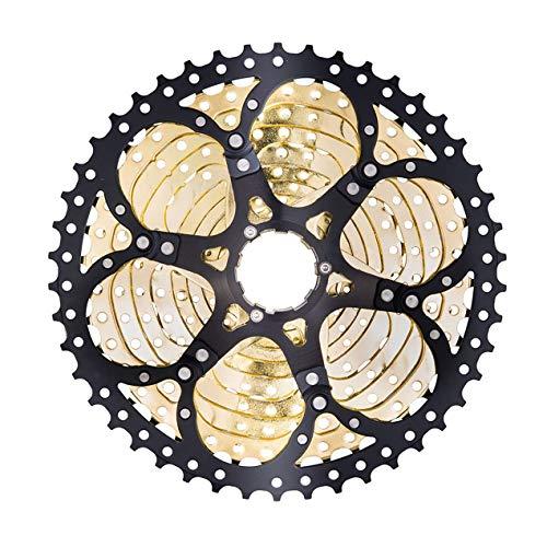 Bicycle flywheel,Unique 11 Speed Cassette 11-46T Compatible Road Bike Shimano Sram System High Tensile Steel Sprockets Folding Silver Gear