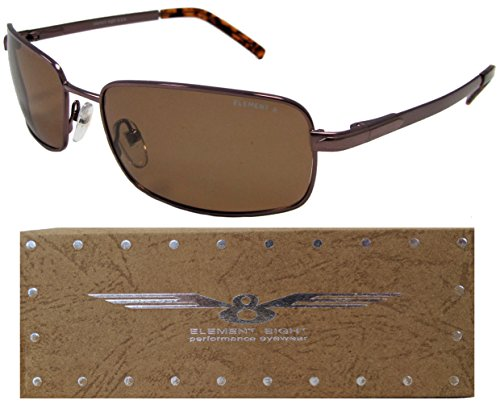 E8 Element Eight Metal Wire Frame Polarized Sunglasses - Amber Frame - Amber - Sunglasses Element 8