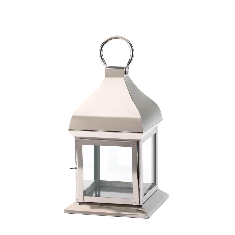 Koehler Home Decor Silver Glint Lantern Smart Living 10017371