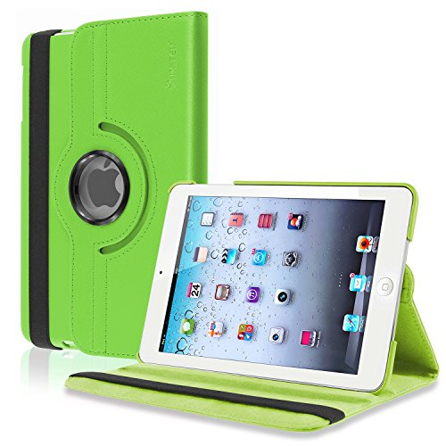 Insten 360-Degree Swivel Leather Case for Apple iPad mini, Green (PAPPIPDMLC26)