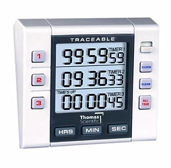 amazon com thomas 5000 3 channel alarm timer 0 001 percent rh amazon com fisher scientific traceable nano timer manual fisher scientific traceable stopwatch manual